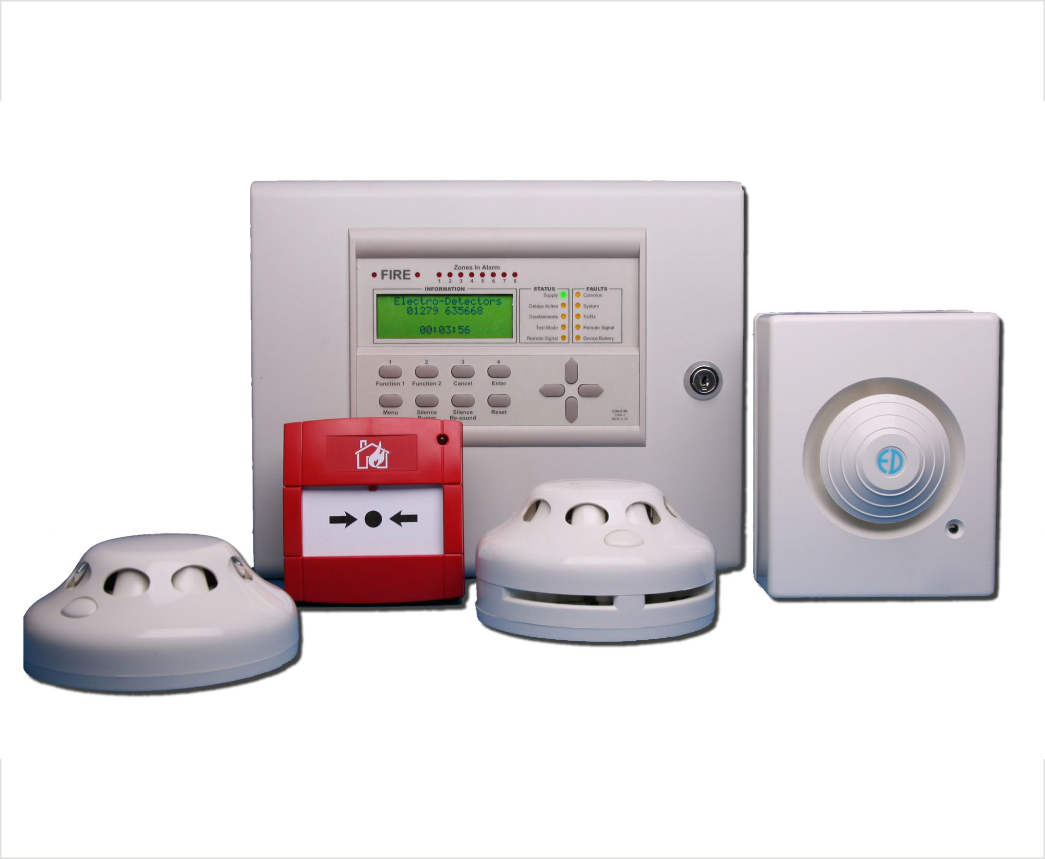 Detect Fire-UL Listed Smoke Detector -UL Listed Addressable Panel